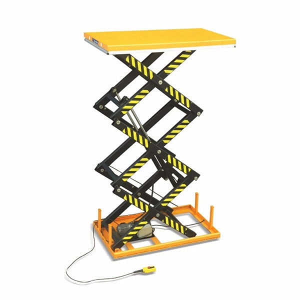 1.5 Ton Electric Scissor Lift Anti Slip Steel Plate Platform With Safety Interlock