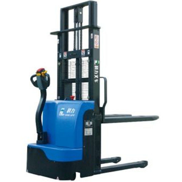 High Performance Walkie Pallet Stacker , 24V  Electric Stacker Forklift